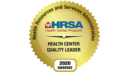 Health Resources and Services Administration- Health Center Quality Leader- 2020 Awardee- Gold Seal