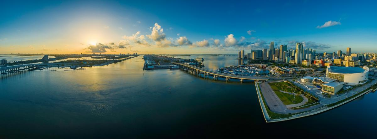 Panoramic view of Miami-Biscayne Bay
